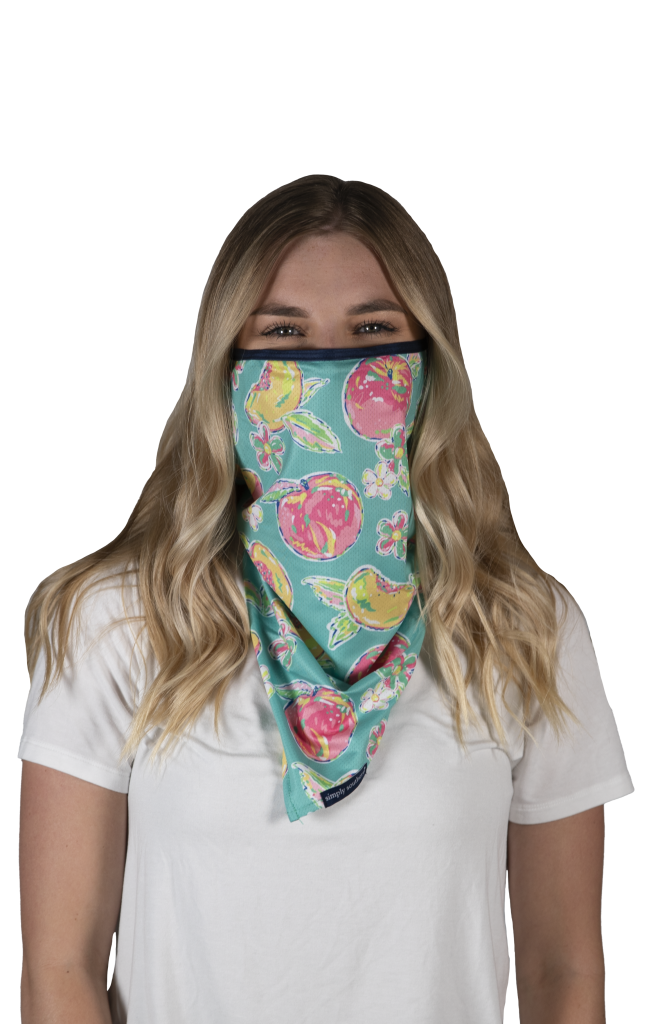 Simply Southern Preppy Peachy Protective Mask Cover