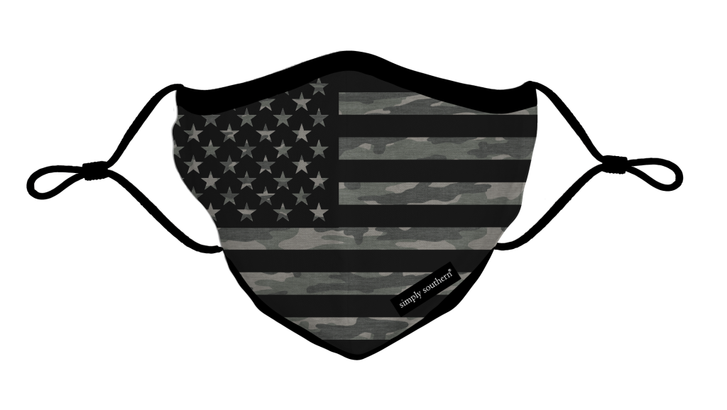Simply Southern Preppy Camo USA Protective Mask