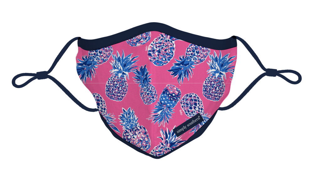 Simply Southern Preppy Pink Pineapple Protective Mask