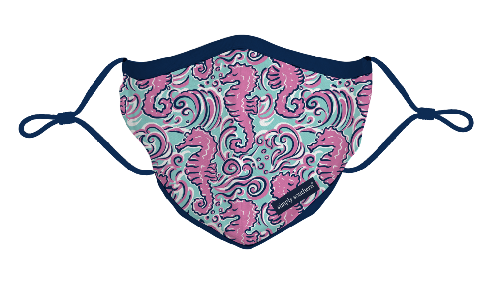 Simply Southern Preppy Seahorse Protective Mask