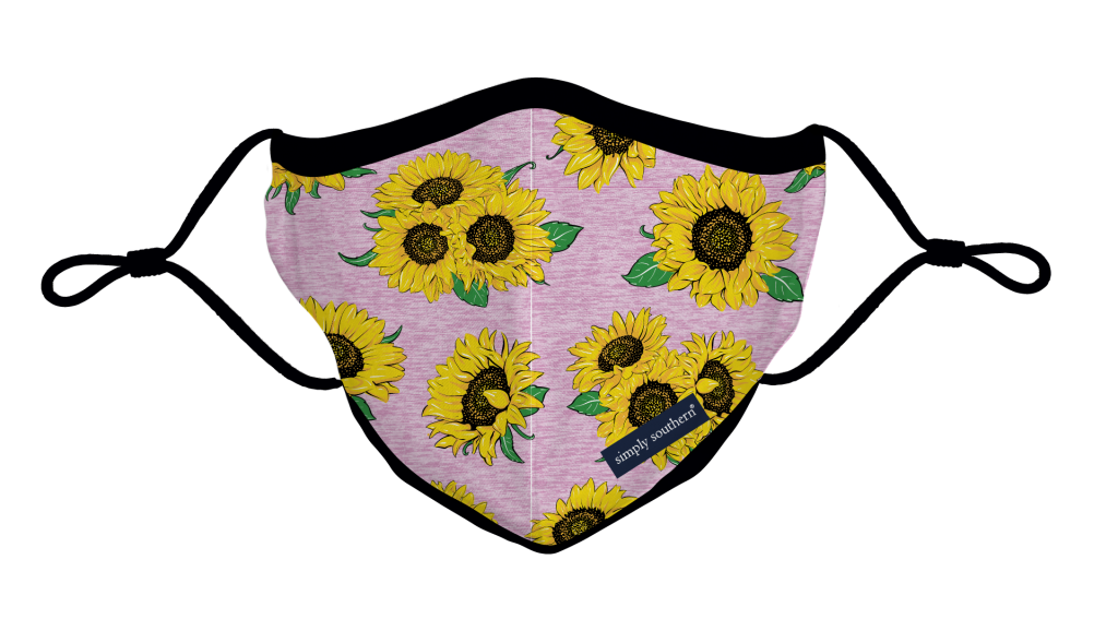 Simply Southern Preppy Pink Sunflower Protective Mask