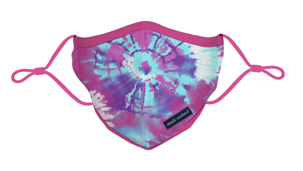 Simply Southern Preppy Tie Dye Protective Mask