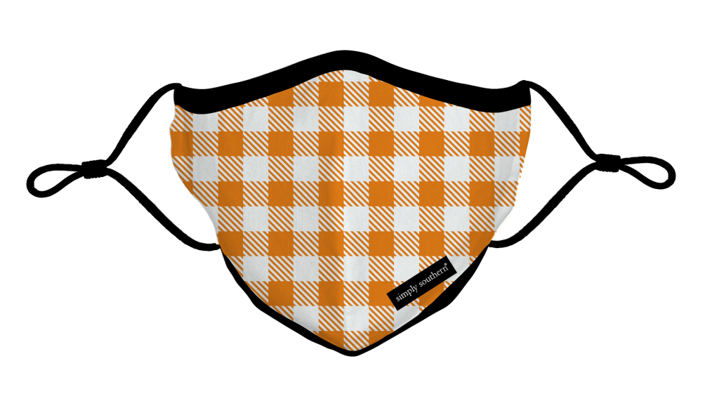 Simply Southern Preppy Fall Gingham Protective Mask