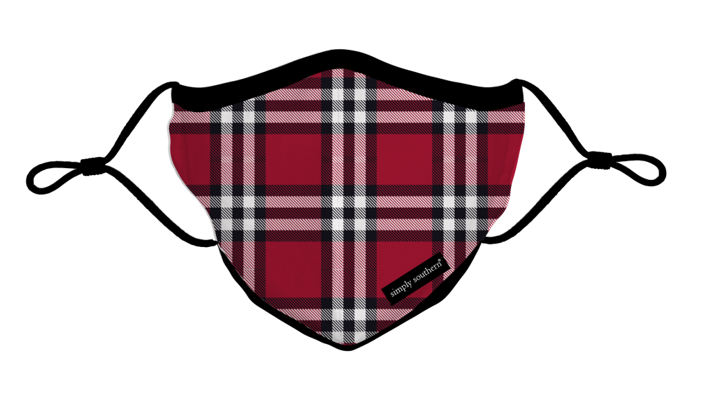 Simply Southern Preppy Holiday Plaid Protective Mask