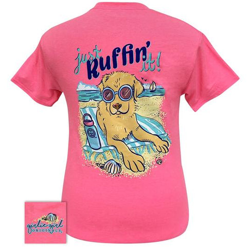 Girlie Girl Originals Preppy Ruffin' It Dog T Shirt