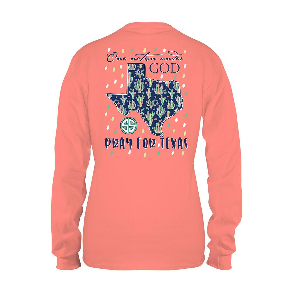 SALE Simply Southern Pray For Texas Hurricane Harvey Relief Long Sleeve T-Shirt