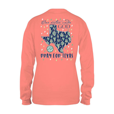 Simply Southern Pray For Texas Hurricane Harvey Relief Long Sleeve T-Shirt