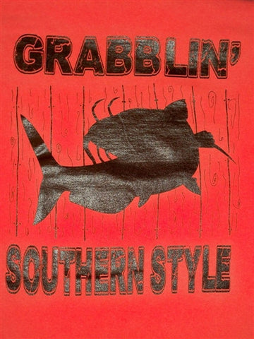 Southern Chaps Chics Backwoods Grabblin Fish Fishing Catfish Country Comfort Colors Unisex Bright T Shirt