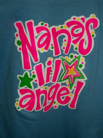Southern Chics Nana's Lil Angel Nana Girl Toddler Youth Bright T Shirt