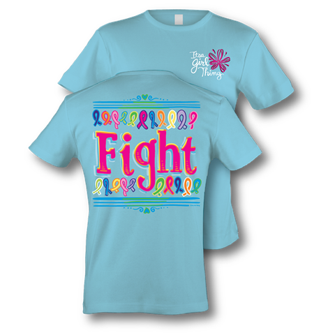 Itsa girl Thing Funny Fight Ribbon All Colors Types Cancer Awareness Southern Bright Girlie T-Shirt
