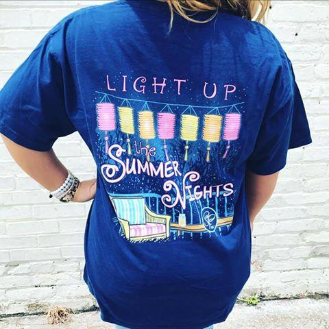 Sassy Frass Light Up the Summer Nights Comfort Colors Girlie Bright T Shirt