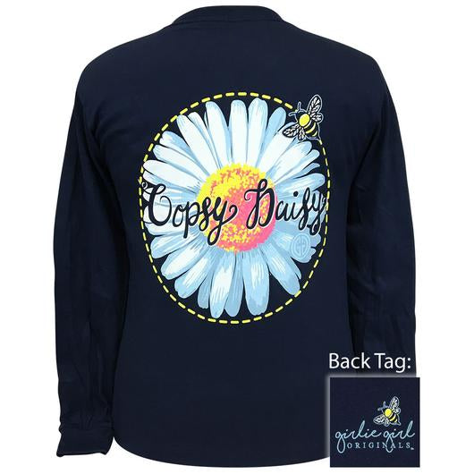 Girlie Girl Originals Preppy Oopsy Daisy Long Sleeve T-Shirt