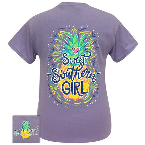 Girlie Girl Originals Preppy Sweet Southern Girl Pineapple T Shirt