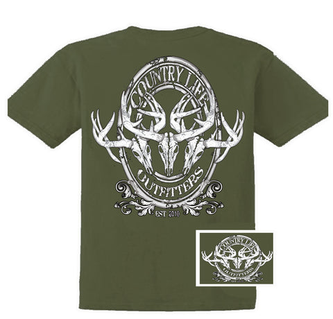 Country Life Outfitters Deer Skull Head Medallion Hunt Vintage Unisex Bright T Shirt - SimplyCuteTees