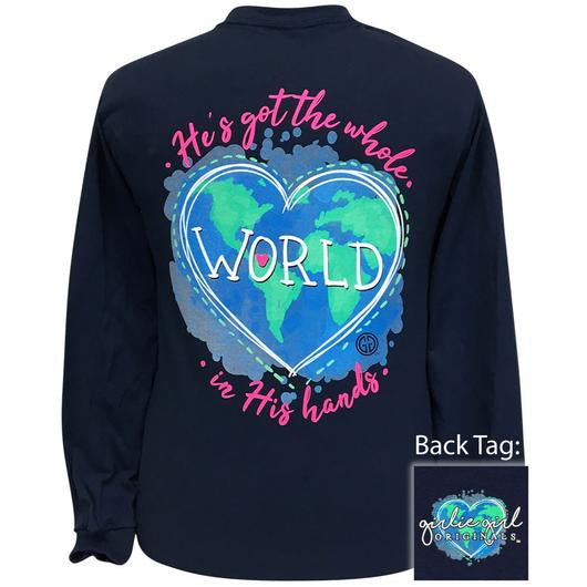 Girlie Girl Originals World In His Hands COVID-19 Long Sleeves T Shirt