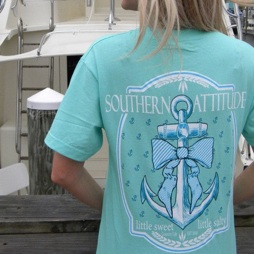 Country Life Outfitters Southern Attitude Anchor Bow Mint