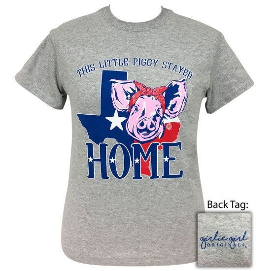 Girlie Girl Originals Preppy Piggy Home Texas T-Shirt
