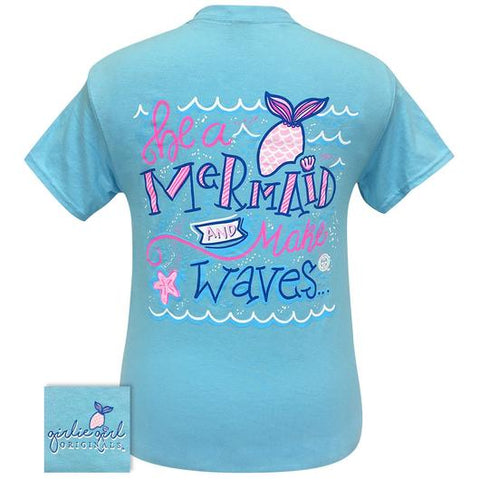 Girlie Girl Originals Preppy Mermaid Makes Waves T Shirt