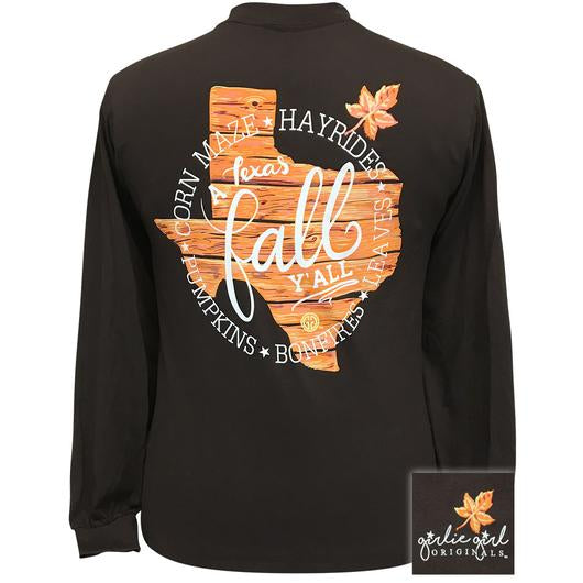 Girlie Girl Originals Texas Fall Y'all Long Sleeves T Shirt