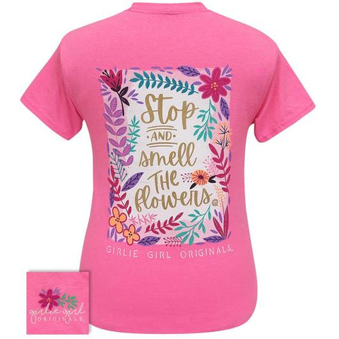 Girlie Girl Originals Preppy Stop And Smell Flowers T Shirt