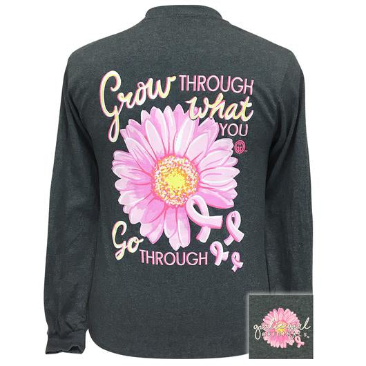 Girlie Girl Originals Grow Through Breast Cancer Long Sleeves T Shirt