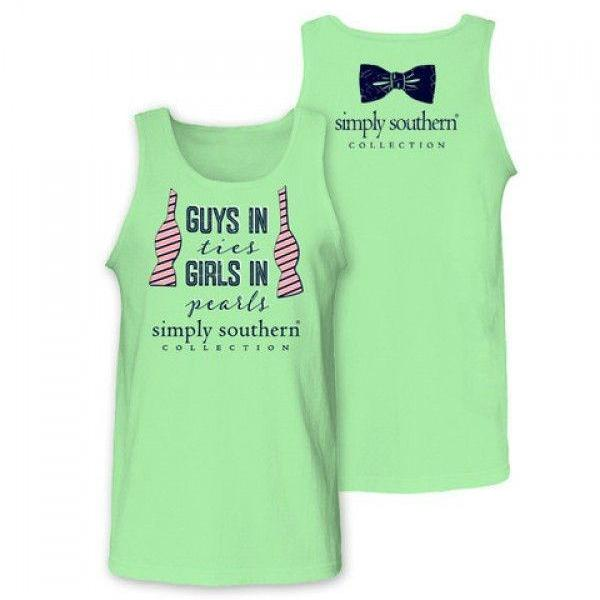 c593b289bf1ac Simply Southern Preppy Guys in Ties Girls in Pearls Tank Top Sale. + ...