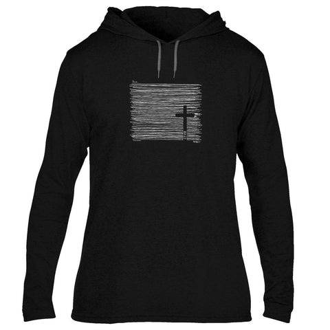 Kerusso Cross Seek Unisex Christian Long Sleeve Hoodie T Shirt