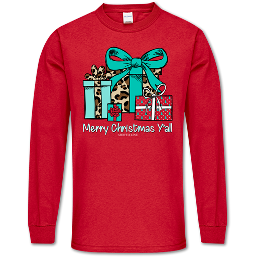 Couture Above The Line Soft Merry Christmas Y'all Long Sleeve T-Shirt