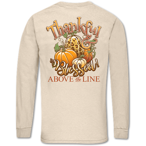 Couture Above The Line Classic Thankful & Blessed Fall Long Sleeve T-Shirt