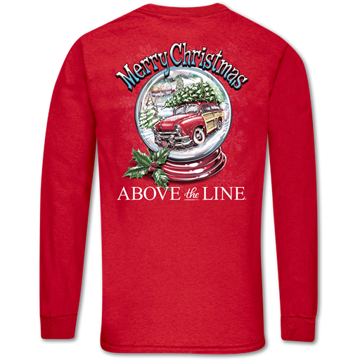 Couture Above The Line Classic Merry Christmas Globe Long Sleeve T-Shirt