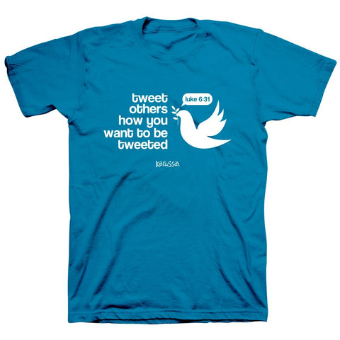 Kerusso Tweet Others How You Want to be Tweeted Christian Unisex Bright T Shirt