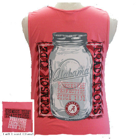 Alabama Crimson Tide Preserved Perfection Bright Girlie Girl Tank Top