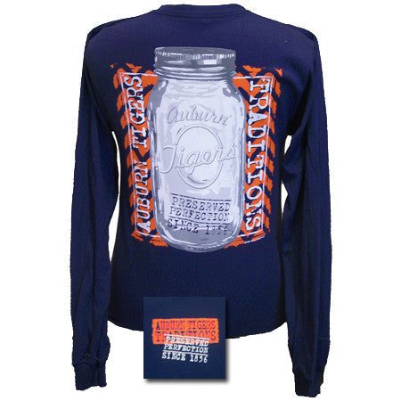 Auburn Tigers War Eagle Perfection Mason Jar Bright Girlie Long Sleeve T Shirt - SimplyCuteTees