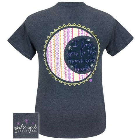 Girlie Girl Originals Preppy Love You To The Moon T-Shirt