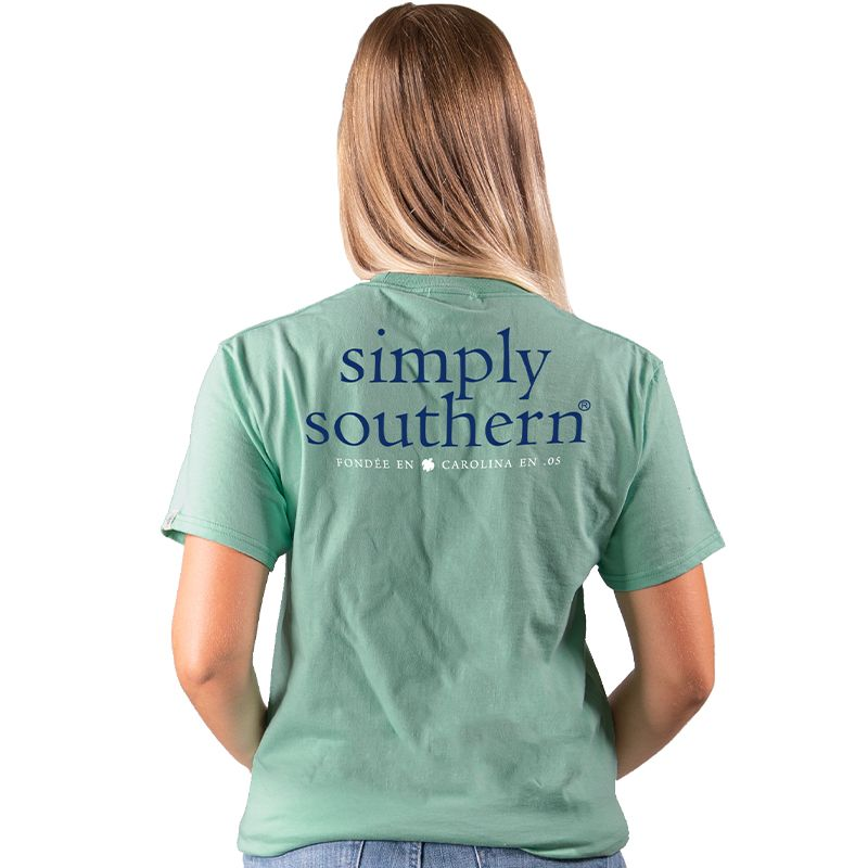 Simply Southern Preppy Classic Basic  Logo Sea T-Shirt