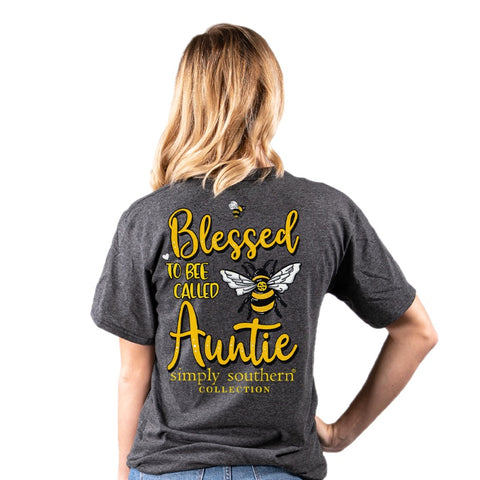 Simply Southern Preppy Blessed To Bee Called Auntie T-Shirt