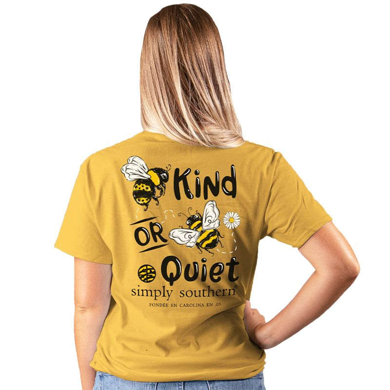Simply Southern Preppy Bee Kind Or Quiet T-Shirt