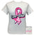 Girlie Girl Originals Preppy Cure Vibes Breast Cancer T-Shirt
