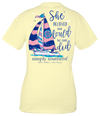 Simply Southern She Believed She Could Boat Butter T-Shirt