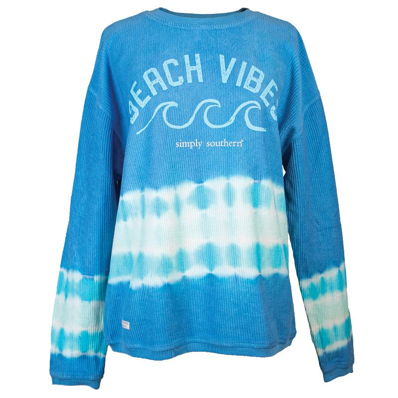 Simply Southern Beach Vibes Coastal Beach Crew Long Sleeve Sweatshirt