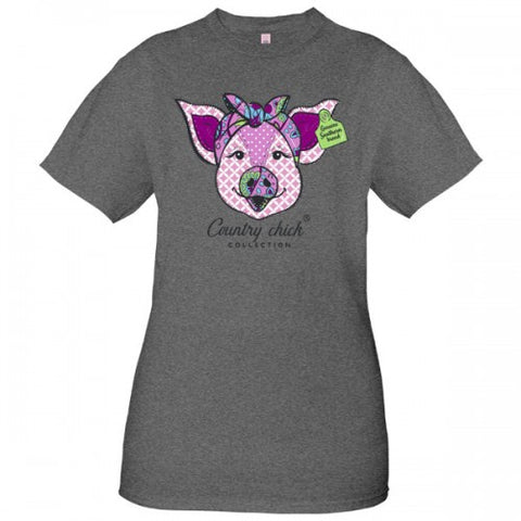 Country Chick By Simply Southern Preppy Genuine Pig T-Shirt
