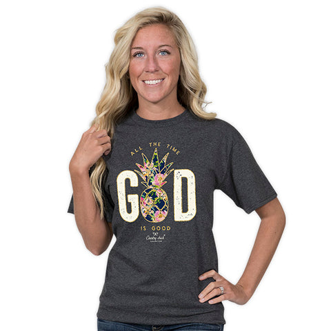 Country Chick By Simply Southern Pineapple God T-Shirt