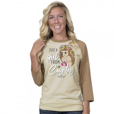 Country Chick By Simply Southern Hedgehog Long Sleeve T-Shirt