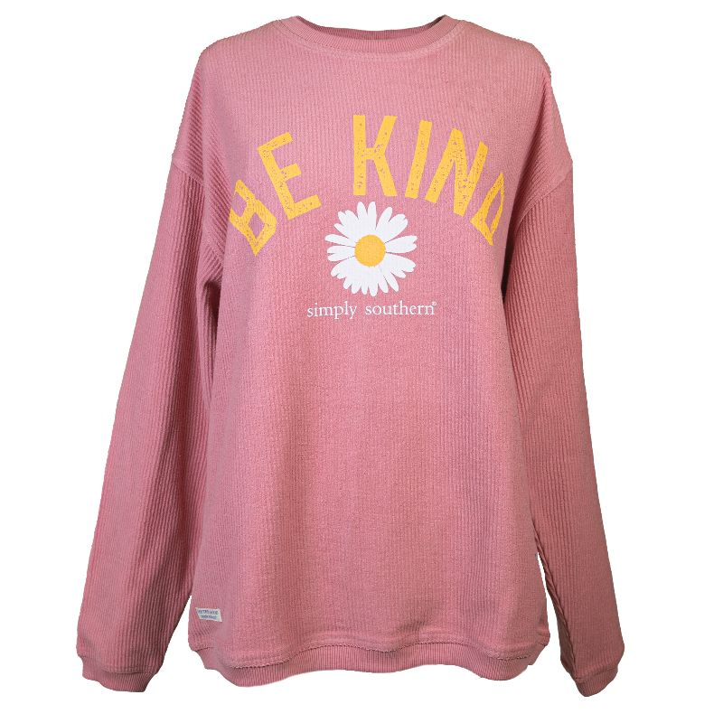 Simply Southern Be Kind Coastal Beach Crew Long Sleeve Sweatshirt