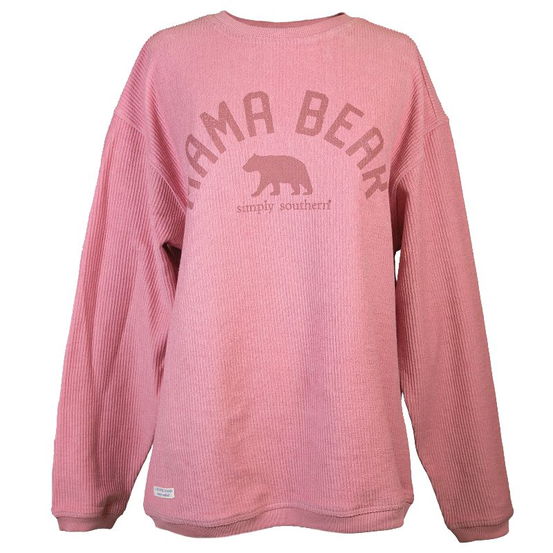 Simply Southern Mama Bear Coastal Beach Crew Long Sleeve Sweatshirt