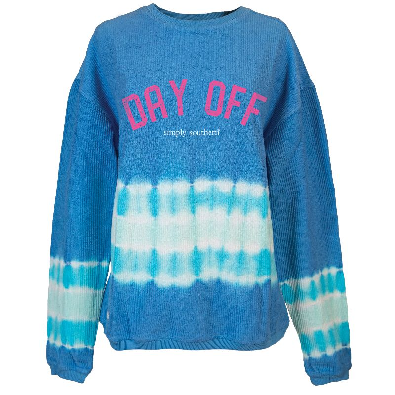 Simply Southern Day Off Coastal Beach Crew Long Sleeve Sweatshirt