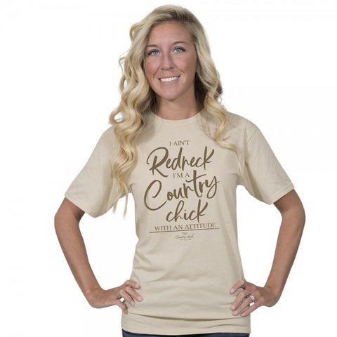 Country Chick By Simply Southern Redneck T-Shirt