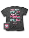 Cherished Girl Every Mom Loses her Mind Christian Mom Finds His Bow Cross Girlie Bright T Shirt - SimplyCuteTees