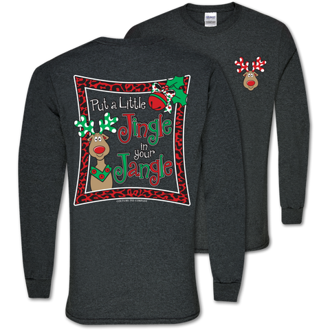 Southern Couture Jingle in your Jangle Holiday Long sleeve T-Shirt