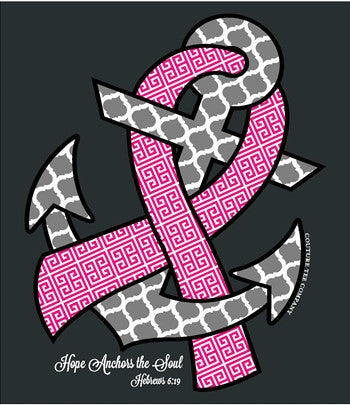 Southern Couture Hope Anchors Breast Cancer Pink Ribbon
